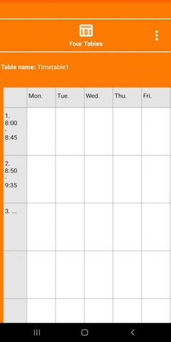 NewTimetableNotes - Simple Timetable, Weekly plan / Weekly planner, Notes in tables. App-Screenshot-1