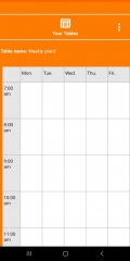 NewTimetableNotes - Simple Timetable, Weekly plan / Weekly planner, Notes in tables. App-Screenshot-9