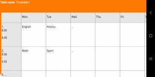 NewTimetableNotes - Simple Timetable, Weekly plan / Weekly planner, Notes in tables. App-Screenshot-6