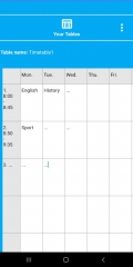 NewTimetableNotes - Simple Timetable, Weekly plan / Weekly planner, Notes in tables. App-Screenshot-7