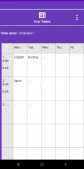 NewTimetableNotes - Simple Timetable, Weekly plan / Weekly planner, Notes in tables. App-Screenshot-8